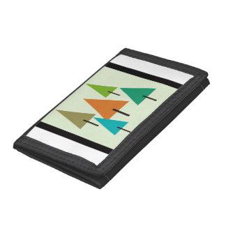 Tree Contemporary Art Tri-fold Wallet