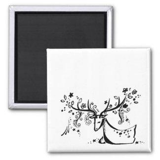 Tree Deer Magnet