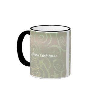 Tree Design Christmas Coffee Cup Ringer Mug