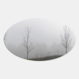 Tree Dewy Meadow Oval Sticker