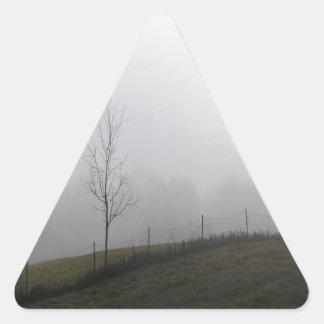 Tree Dewy Meadow Triangle Sticker