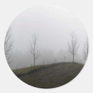 Tree Dewy Meadow Round Sticker