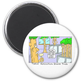 Tree Divorce: Funny Gifts Tees & Collectibles 6 Cm Round Magnet