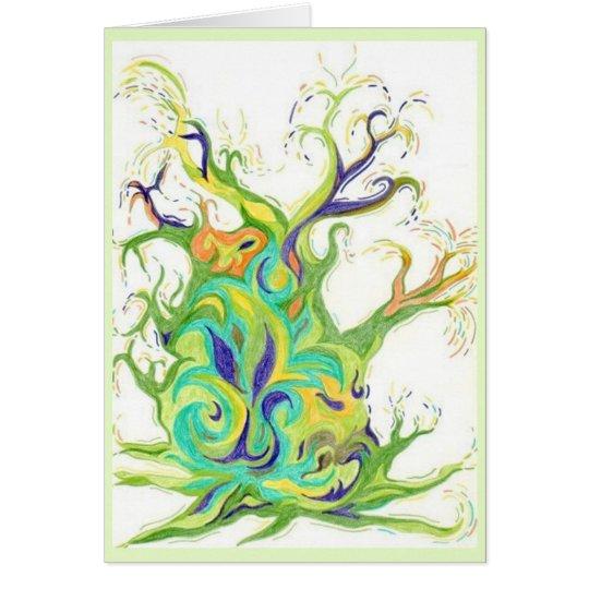 Tree Energy x 5 image Greeting Card