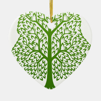 Tree Faces Concept Christmas Ornament
