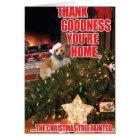 Tree Fainted-Cat Christmas Humour Card