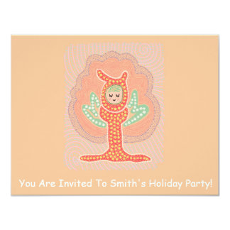 "Tree Fairy Dreamland Dot Painting 4.25"" X 5.5"" Invitation Card"