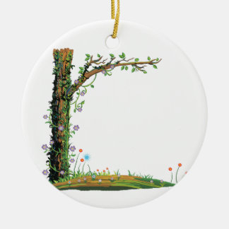 Tree floral vines left side pretty graphic.png round ceramic decoration