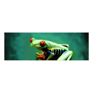 Tree Frog Bookmark Cards Pack Of Skinny Business Cards