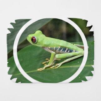 Tree Frog Burp Cloths