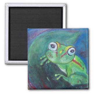 Tree Frog by Tiffany Deering Square Magnet