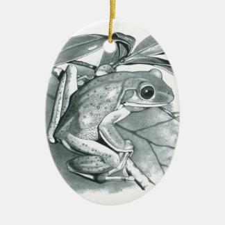 Tree Frog Ceramic Oval Decoration