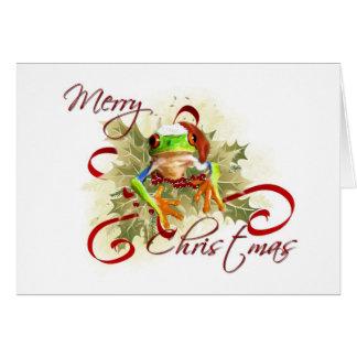 Tree Frog Christmas Cards