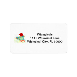 Tree Frog Christmas Gifts Label