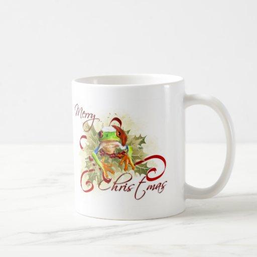 Tree Frog Christmas Mugs