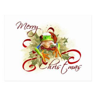 Tree Frog Christmas Postcards
