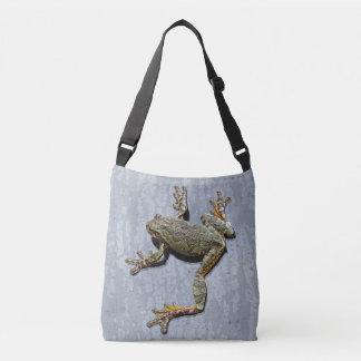 Tree Frog Climbing Rainy Window Photographic Art Crossbody Bag