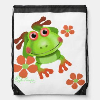 Tree Frog Cute Funny Drawstring Backpacks