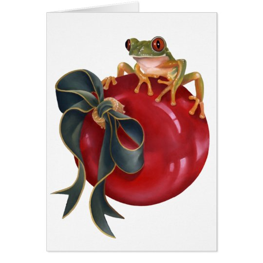 Tree Frog Holiday Card