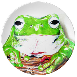 Tree frog illustrated plate