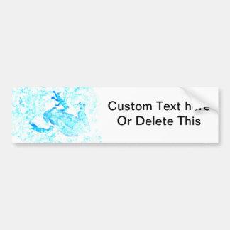 tree frog invert blue white moss animal design bumper sticker