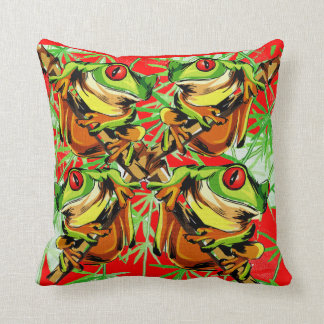Tree Frog Nature  Design  Mojo Throw  Pillow