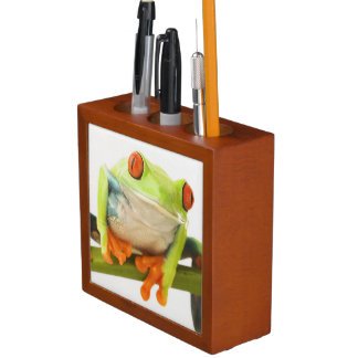 Tree frog on stem desk organiser