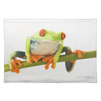 Tree frog on stem place mats