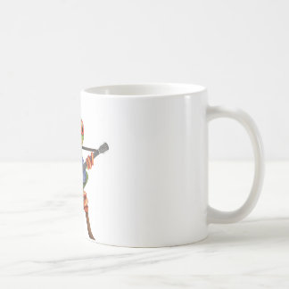 Tree Frog Playing Australian Flag Guitar White Coffee Mug