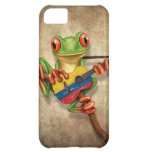 Tree Frog Playing Colombian Flag Guitar iPhone 5C Covers