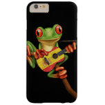 Tree Frog Playing Spanish Flag Guitar Black Barely There iPhone 6 Plus Case