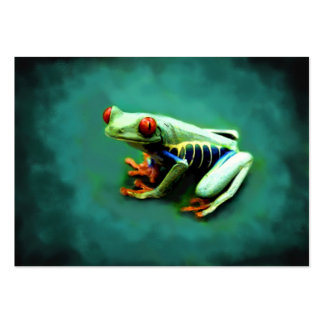 Tree Frog Portrait ACEO Art Trading Cards Pack Of Chubby Business Cards
