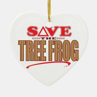 Tree Frog Save Christmas Ornament