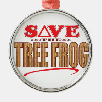 Tree Frog Save Christmas Ornament