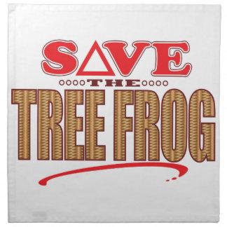 Tree Frog Save Napkin