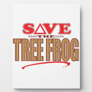 Tree Frog Save Plaque