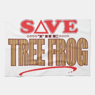 Tree Frog Save Tea Towel