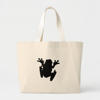 Tree Frog Silhouette Tote Bags
