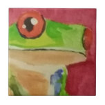 Tree Frog Small Square Tile