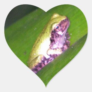 Tree Frog Heart Sticker