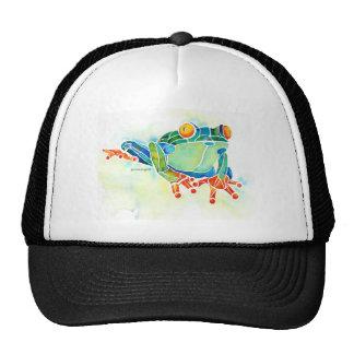 Tree Frog Whimsical Green Mesh Hats