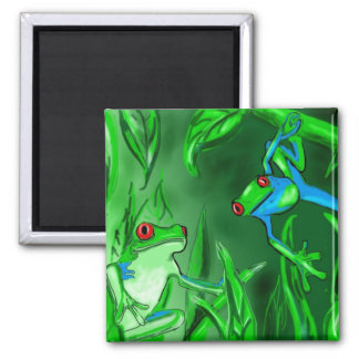 Tree Frogs hanging out fun magnet for all