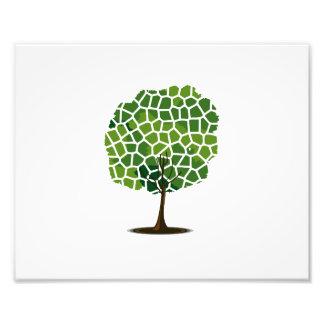 Tree giraffe green pattern eco design.png photo art