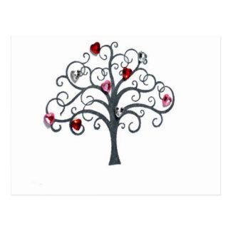 Tree, Glass jug Cap Postcard