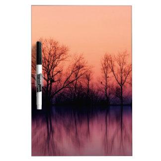 Tree Gloomy Wood Dry Erase Board