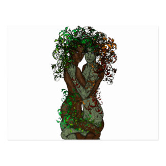 Tree Goddess Dryad Twins Postcard