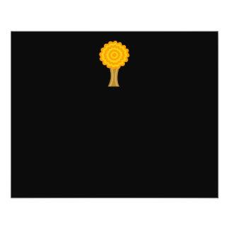 Tree. Golden Autumn colors. Funky Design. 11.5 Cm X 14 Cm Flyer