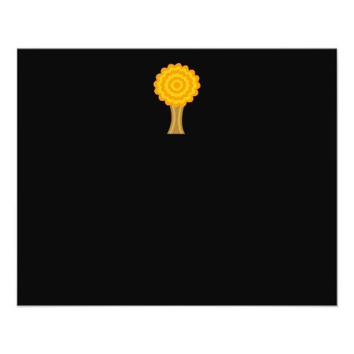Tree. Golden Autumn colors. Funky Design. Custom Flyer