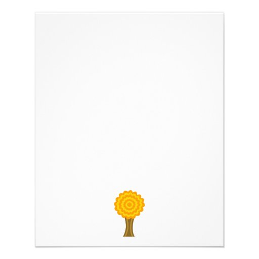 Tree. Golden Autumn colors. Funky Design. Full Color Flyer