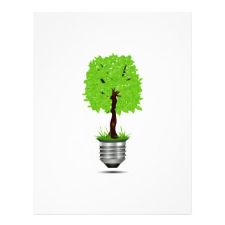 tree graphic in lightbulb base ecology design png personalized flyer